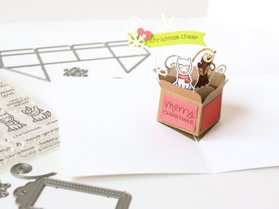 Lawn Fawn Mini Pop Up Box Card - Satur-YAY! 9.29.18