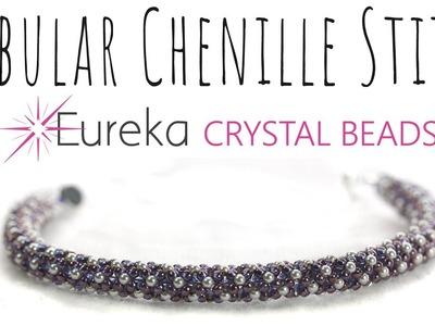 Learn Tubular Chenille Stitch with New 2 mm Swarovski Pearls!
