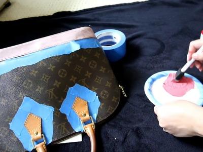 LV Alma Make Over - How I Paint Vachetta Leather