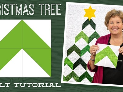 Make a Christmas Tree Chevron Quilt with Jenny Doan of Missouri Star (Instructional Video)