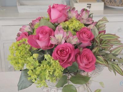 Making a Simple Round Rose Arrangement Floristry Tutorial