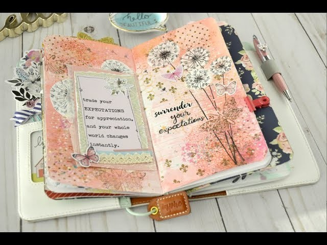 Mix Media  process video - My Quote Journal