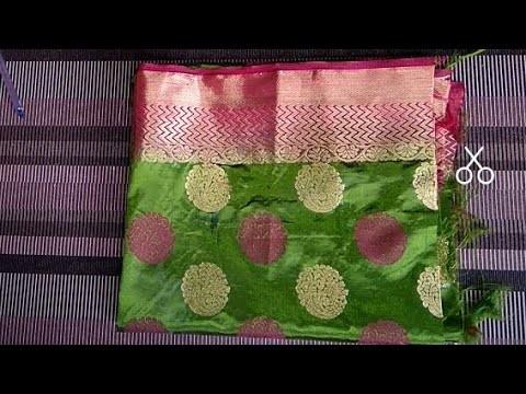 b121a812fb2a1 Paithani blouse design cutting and stitching