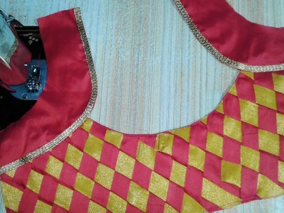 Patch work blouse designs  cutting and stitching 2018