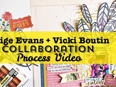 Process Video- Collaboration with Paige Evan- Art Crayons and Diecuts