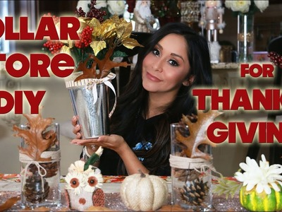 SNOOKI'S DOLLAR STORE DIY THANKSGIVING DECORATIONS