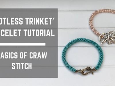 Spotless Trinket bracelet tutorial   Cubic Right Angle Weave stitch basics