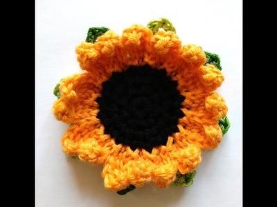 """Sunflower"" headband pattern: crochet petal"