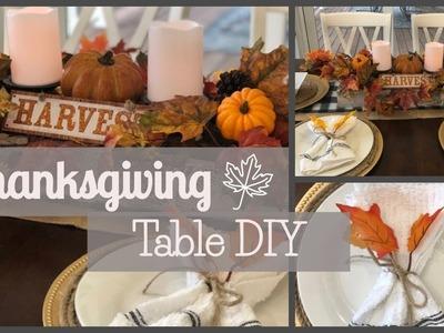 Thanksgiving Table DIY | Dollar Tree | Hobby Lobby