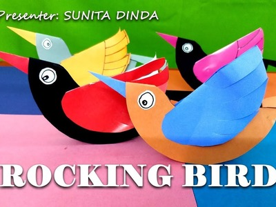 Very Simple steps to make ROCKING BIRD by colorful papers