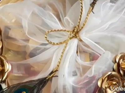 Wedding Gift Packing Ideas. Beautiful gifts basket packing ideas.Basket gift packing at home.