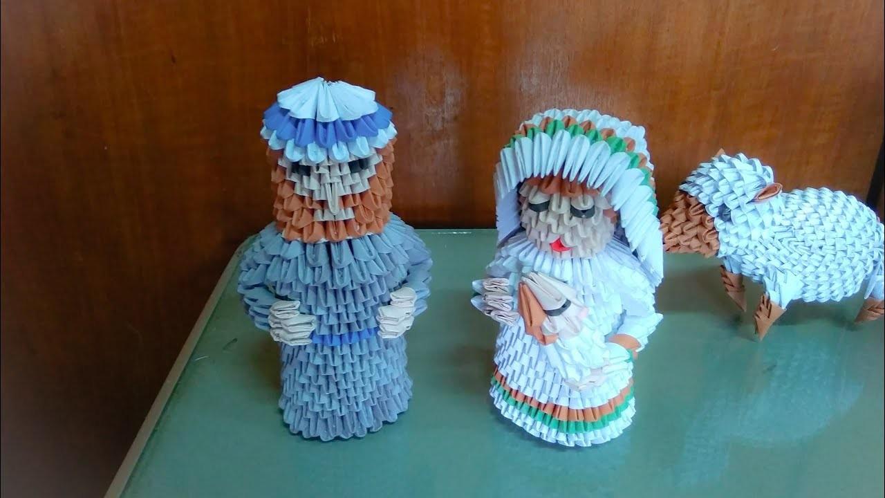 3d origami Maria n baby Jesus tutorial (nativity) easy