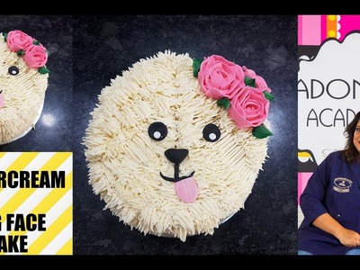 Butter Cream Made Cute Dog Face Cake | How to | Tutorial