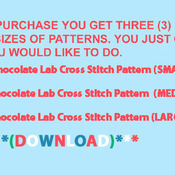 ChocoLate Lab Cross Stitch Pattern***L@@K*** ***INSTANT DOWNLOAD***