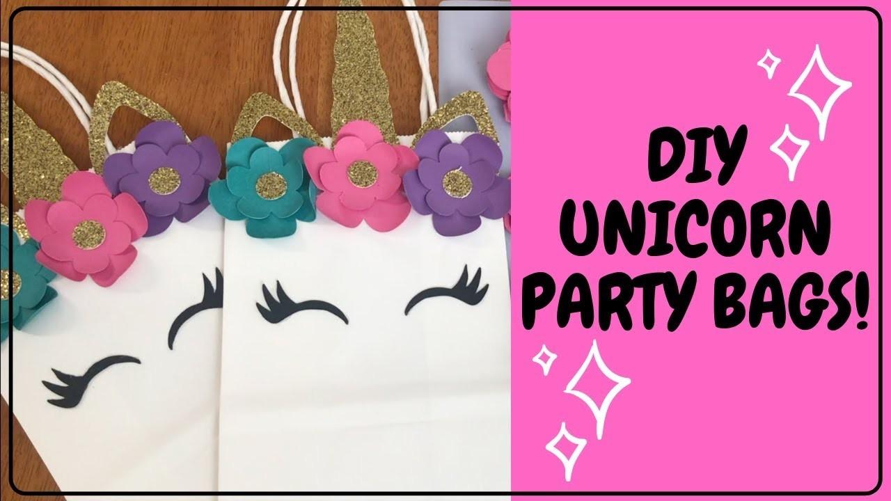 DIY Unicorn Party Bags, DIY Unicorn Party Decor, DIY Unicorn