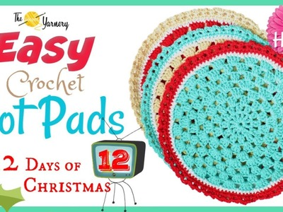EASY Crochet Hot Pad Pattern - LEFT HANDED - Home Decor Crochet Tutorial