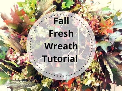 Fresh Fall Wreath Tutorial ~ Nature Walk