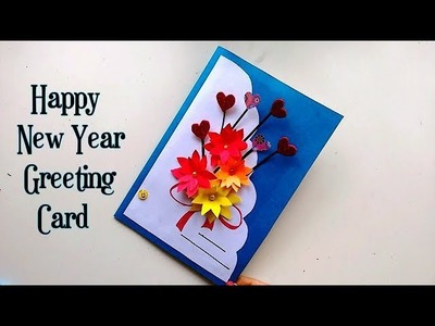 Happy New Year Greeting Card | Popup 3D Card | Handmade Card