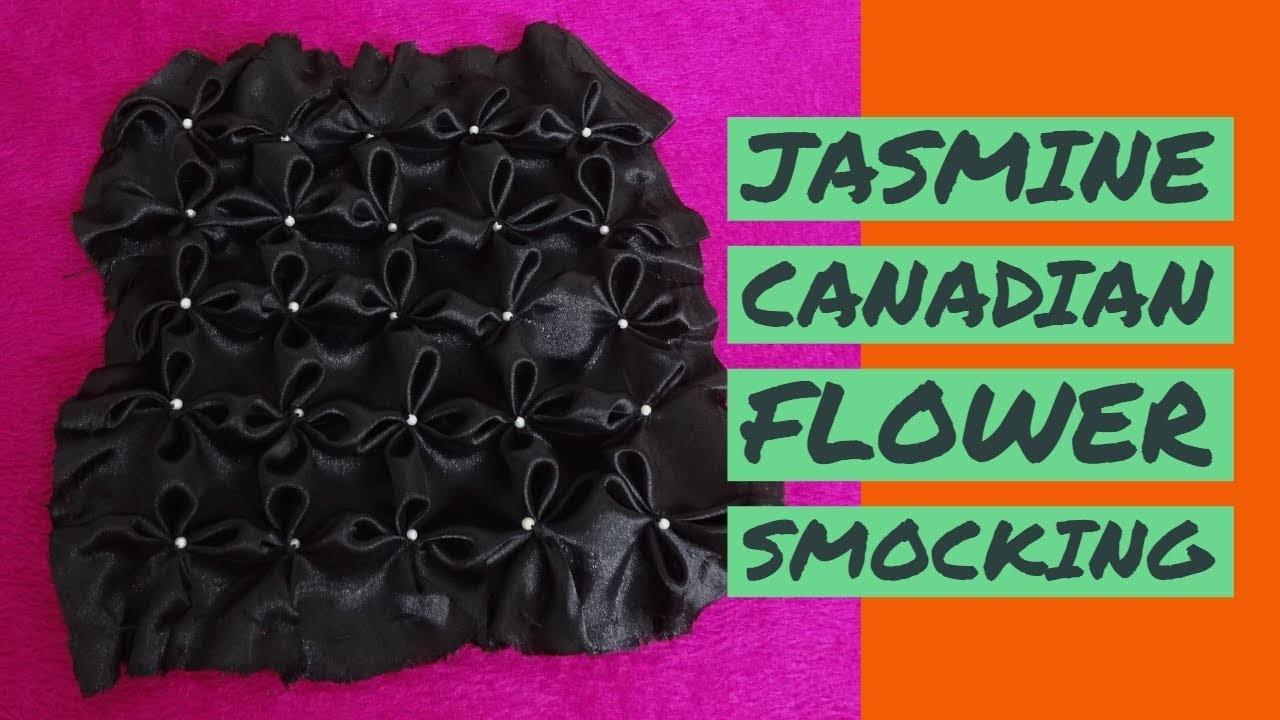 Jasmine Flower Smocking, Canadian Smocking Tutorial