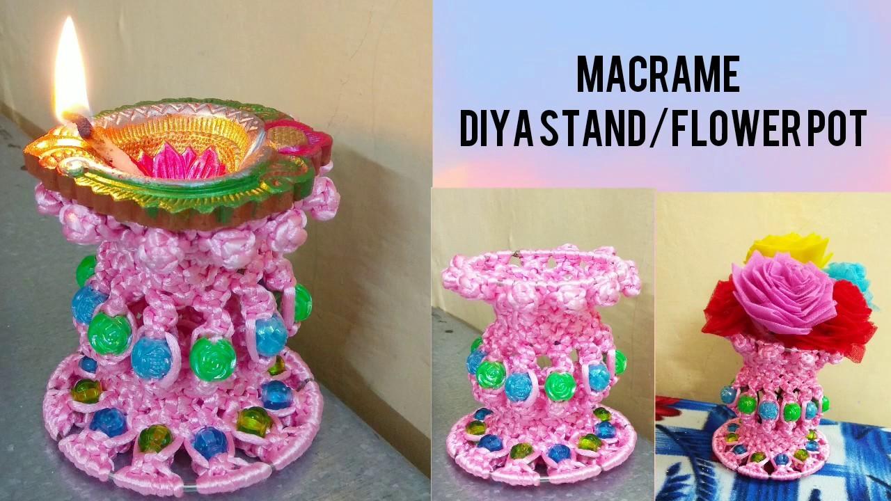 Macrame flower pot design art 2018.macrame step by step tutorial to make flower pot