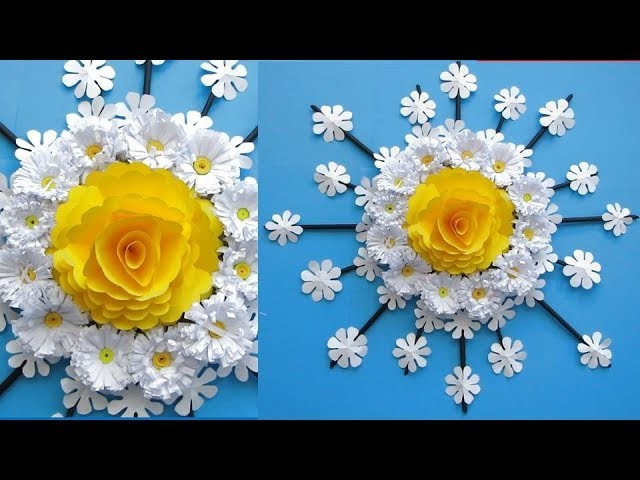 paper flower wall hanging - diy hanging flower