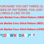 CRAFTS Paris Market Cross Stitch Pattern***LOOK***