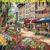 Paris Market Cross Stitch Pattern***LOOK***X***INSTANT DOWNLOAD***