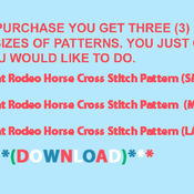 Unique Hand Made pdf Sewing Dmc Crafts Rodeo Flag Paint Horse Cross Stitch Pattern***LOOK***
