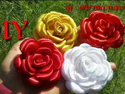TUTORIAL BUNGA GARDENIA???? || HOW TO MAKE GARDENIA FLOWERS FROM SATIN RIBBON