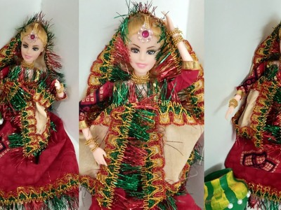 Village Girl DIY Dress For Barbie Doll | CraftLas
