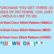 Buck Hunt Cross Stitch Pattern***LOOK***  ***DOWNLOAD***