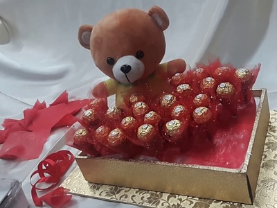 DIY : How to make Chocolate & teddy Bouquet