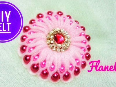 FD-10 DIY FELT || Cara Membuat Bros Ubur2 Mutsin | How to make Pearly Blossom from Felt || Flanelida