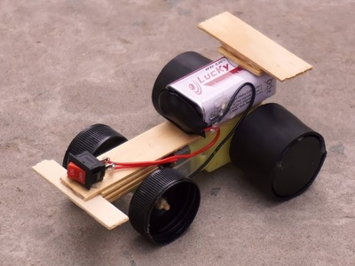 How to make a crazy car at home -  DIY electric car