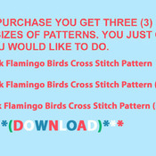 Crafts Pink FLamingo Birds Cross Stitch Pattern***LOOK***PREVIEW A SAMPLE OF MY PATTERNS DETAILS BELOW