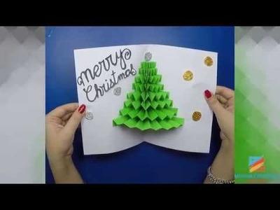 3D Christmas Pop Up Card   How to make a 3D Pop Up Christmas Card   DIY Tutorial