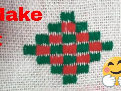 Cross stitch design for table | Hand Embroidery designs | Cross stitch | wool asan design