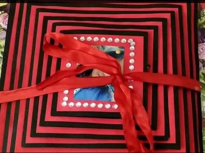 Simple and easy scrapbook decoration idea