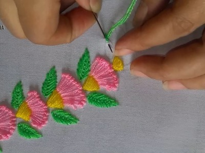 Amazing  Decorative Border Line Design | Hand Embroidery Border design.