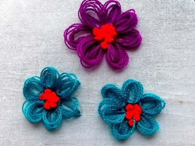 Beautiful flower Embroidery Tricks |  Sewing Hack # easy  hand embroidery.