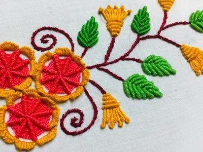 Hand Embroidery: borderline embroidery design l border embroidery l border design l