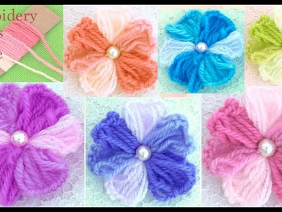 Hand Embroidery flowers for beginners with simple trick Como hacer flores