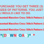 CRAFTS Haunted Mansion Cross Stitch Pattern***LOOK***
