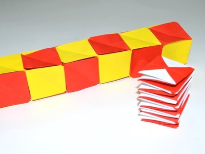 How to make a paper magic spiral cube