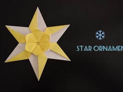Origami 6-point Star for Christmas 折纸六角星 (2)