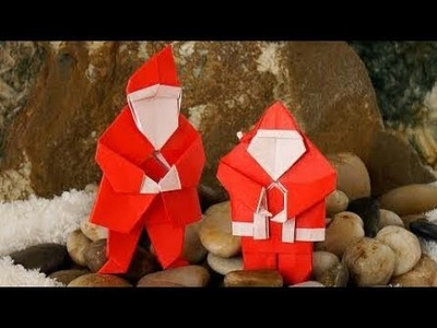 ORIGAMI SANTA CLAUSE (Tutorial) Designed by Steve and Megumi Biddle