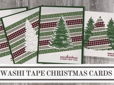 Washi Tape Christmas Cards (4 Easy Ideas)