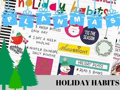 Holiday Habits Planner Page. PLANMAS Day 10 | Plans by Rochelle