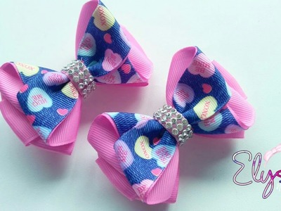 Laço lila ???? Ribbon Bow  Tutorial ???? DIY by Elysia Handmade