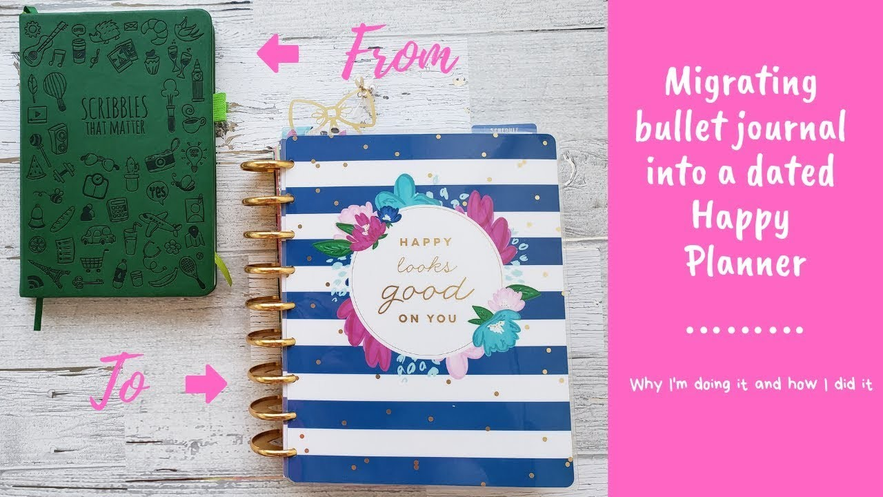 Migrating the Bullet Journal into a Dated Happy Planner | why and how